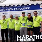 Les pieds carrés à l'arrivée du Marathon de Montpellier